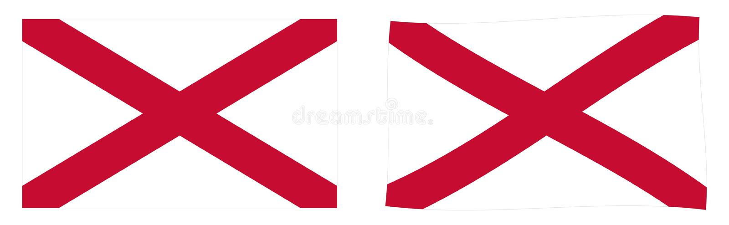 St Patrick Saltire-Flagge, benutzt in Irland Einfach und geringfügig stock abbildung