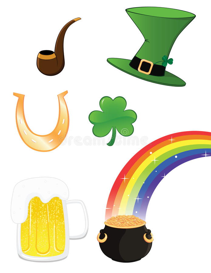 Download St_patrick_set Royalty Free Stock Photography - Image: 23413797