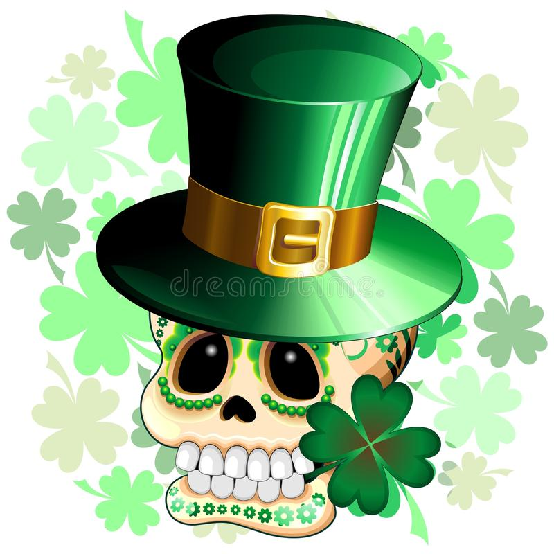 Download St Patrick Skull Cartoon stock vector. Image of humorous - 66941543