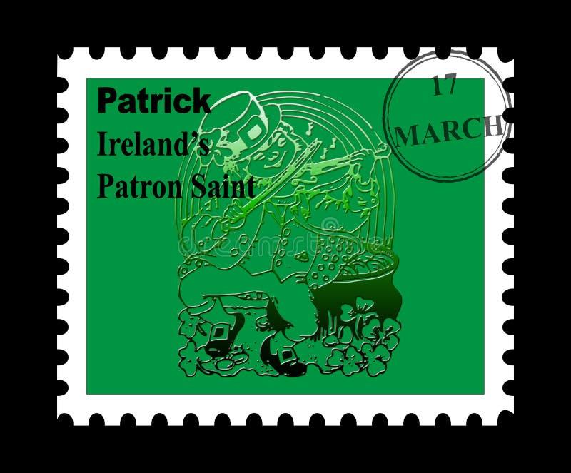 St Patrick stamp stock photography