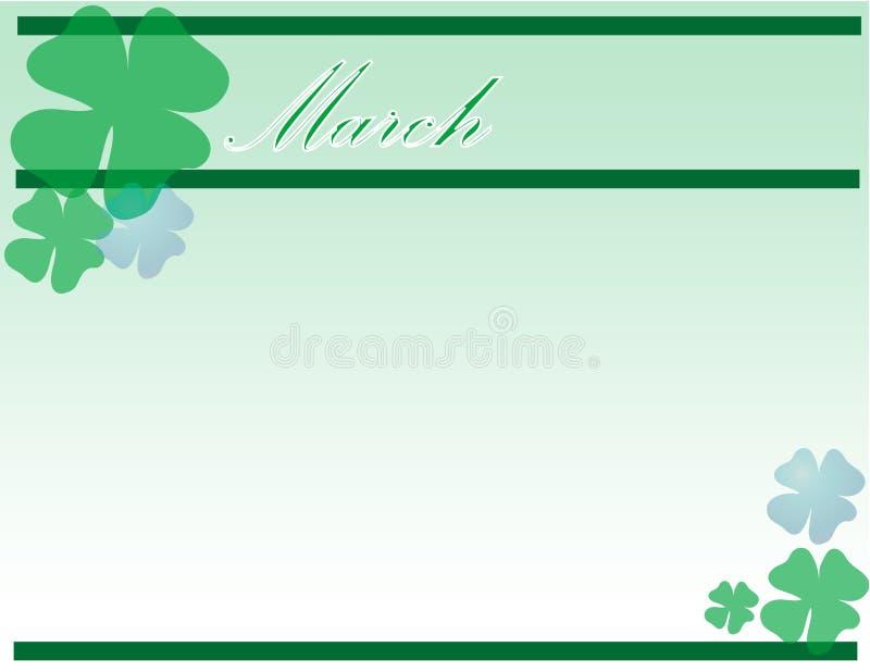 St.Patrick Tag stock abbildung