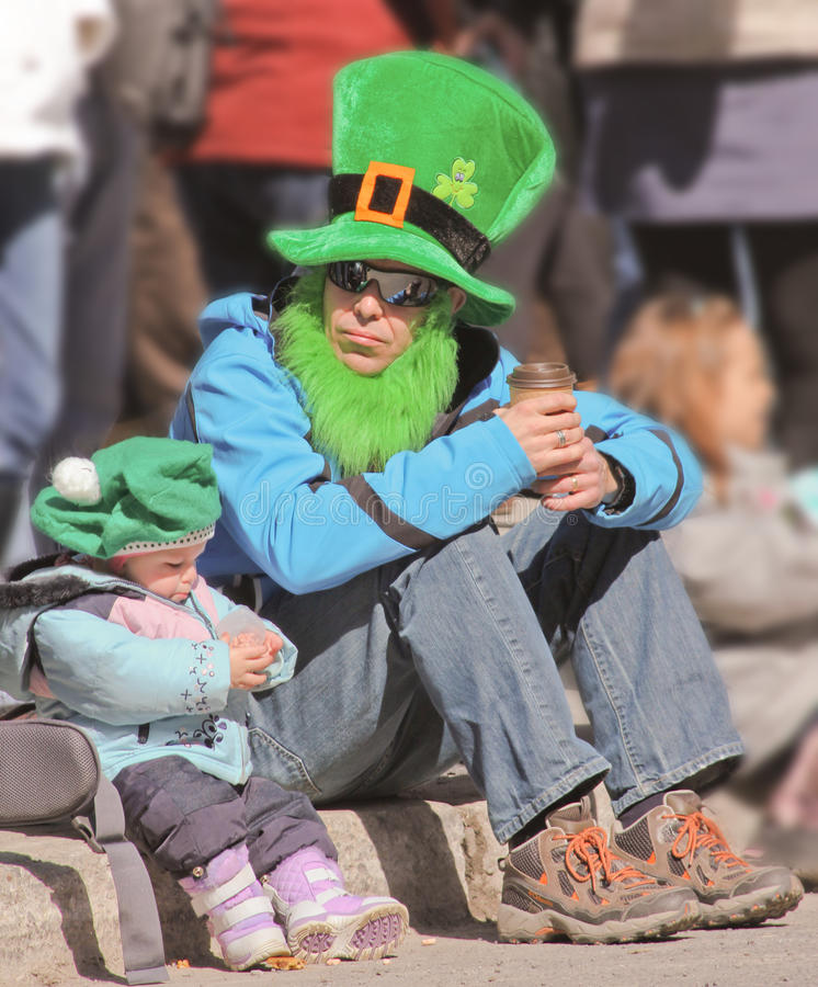 St.Patrick Tag in Montreal. stockbilder