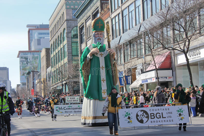 St.Patrick Tag in Montreal. lizenzfreies stockbild
