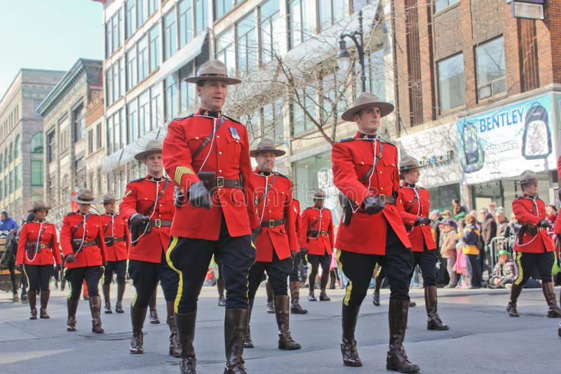 St.Patrick Tag in Montreal. lizenzfreie stockfotos