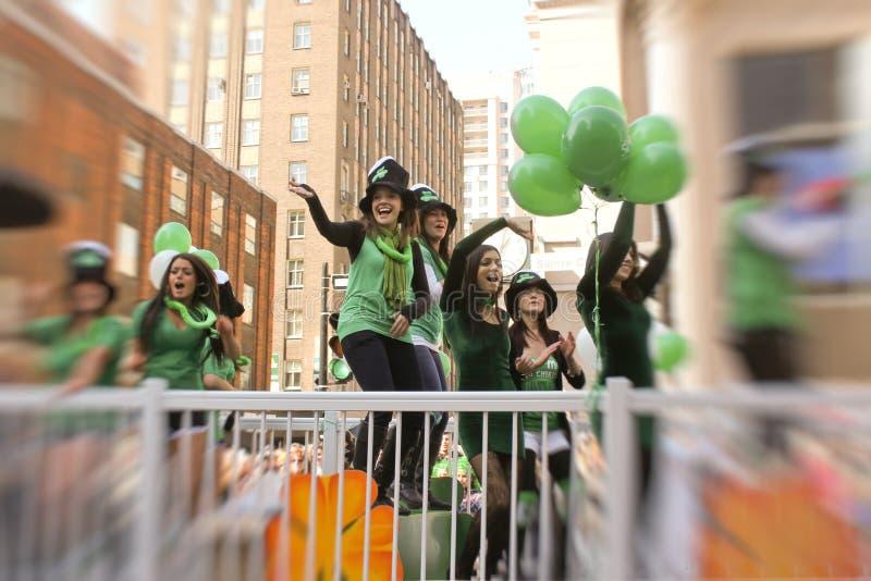 St.Patrick Tag in Montreal. stockbild