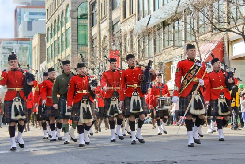 St.Patrick Tag in Montreal. stockfotografie