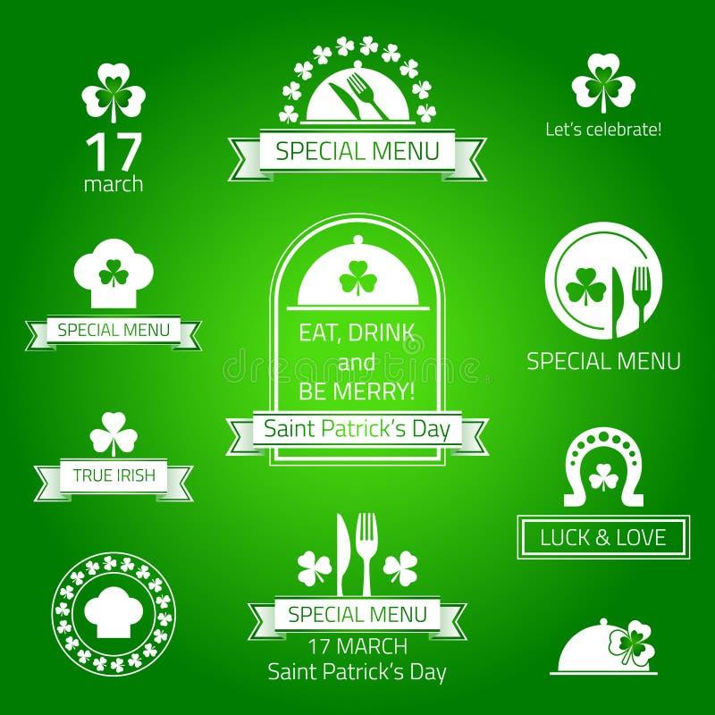 St Patrick Tagesaufkleber lizenzfreie abbildung