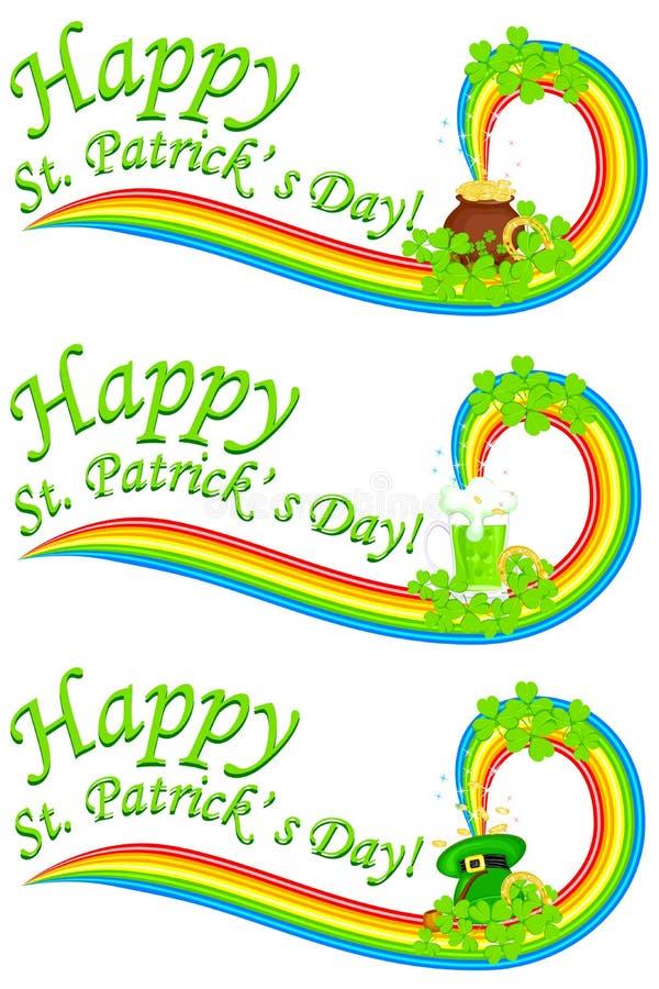 St Patrick Tagesfahne stock abbildung