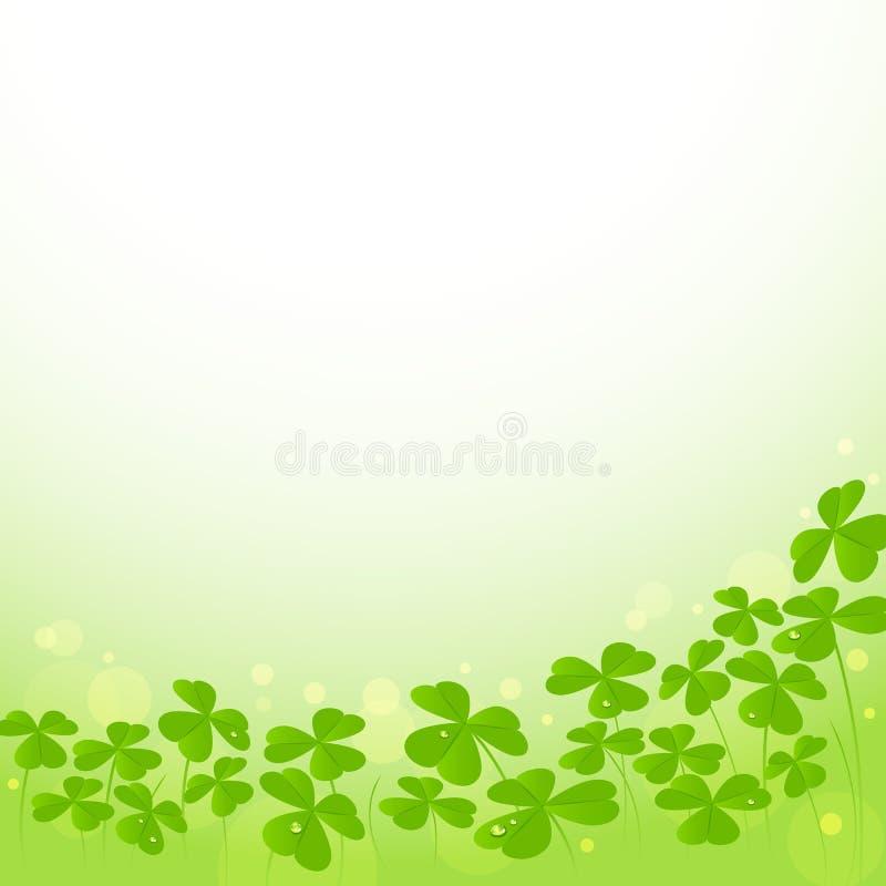 St Patrick Tagesvektorhintergrund mit Shamrock stock abbildung