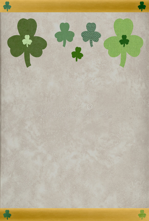Download St. Patrick Textured Shamrocks Stock Image - Image: 503491