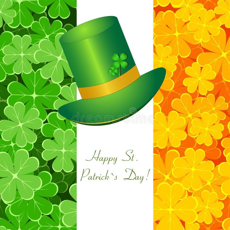 St. Patrick van de groet kaart stock illustratie