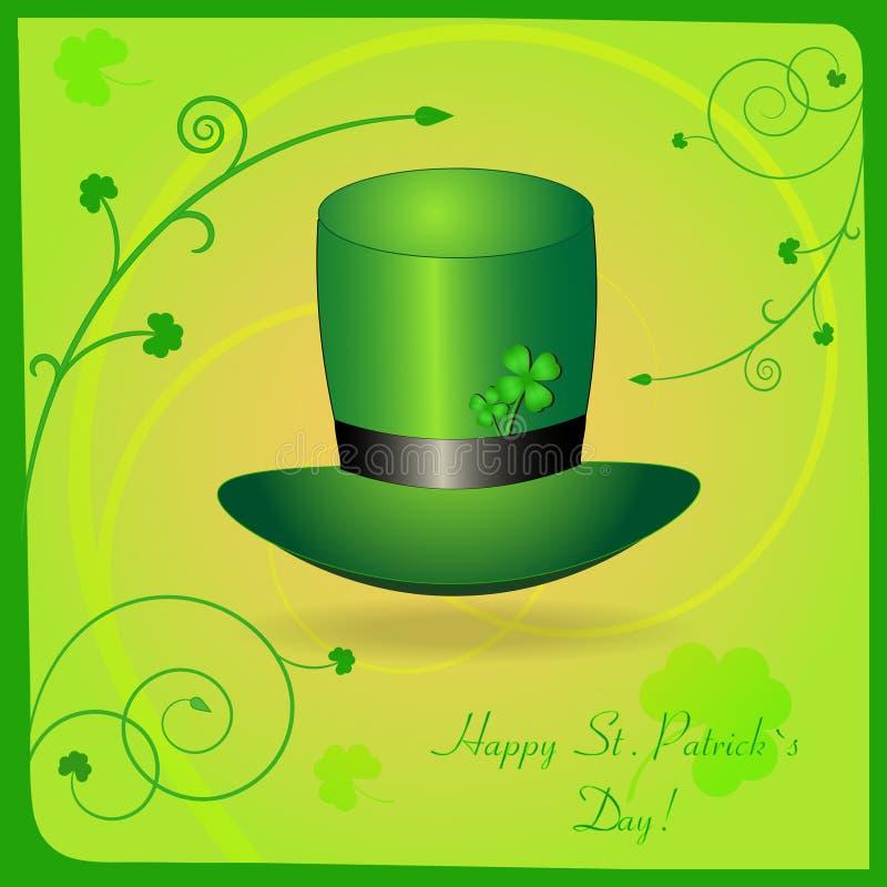 St. Patrick van de groet kaart vector illustratie