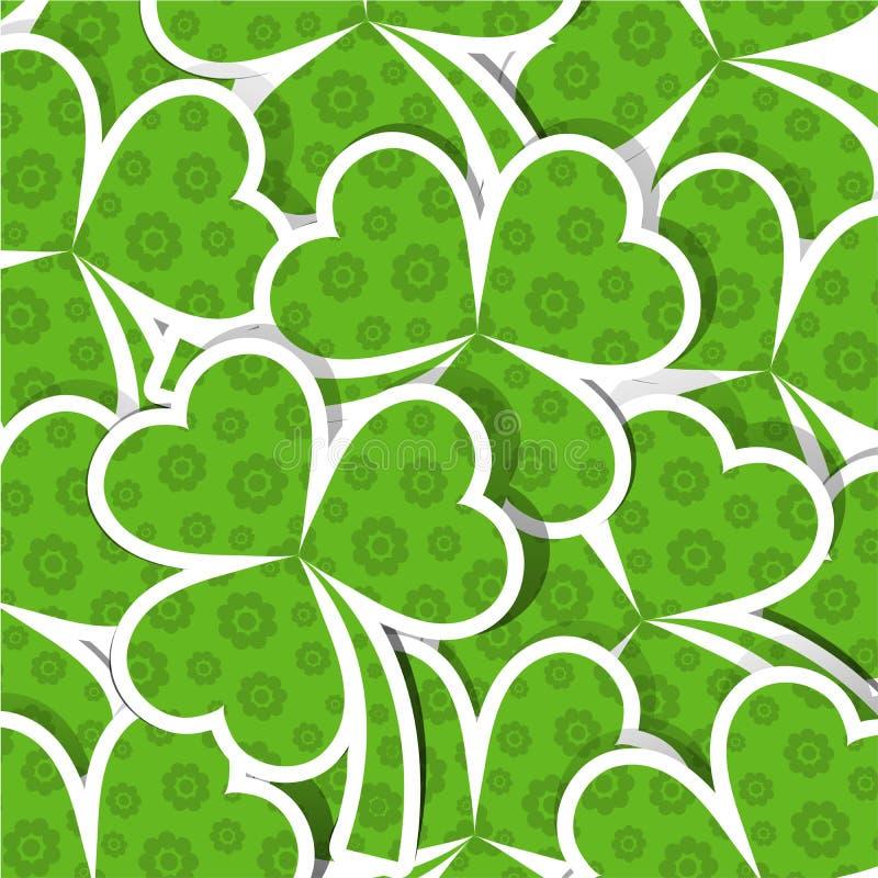 St. Patrick van het malplaatje dagpatroon royalty-vrije illustratie