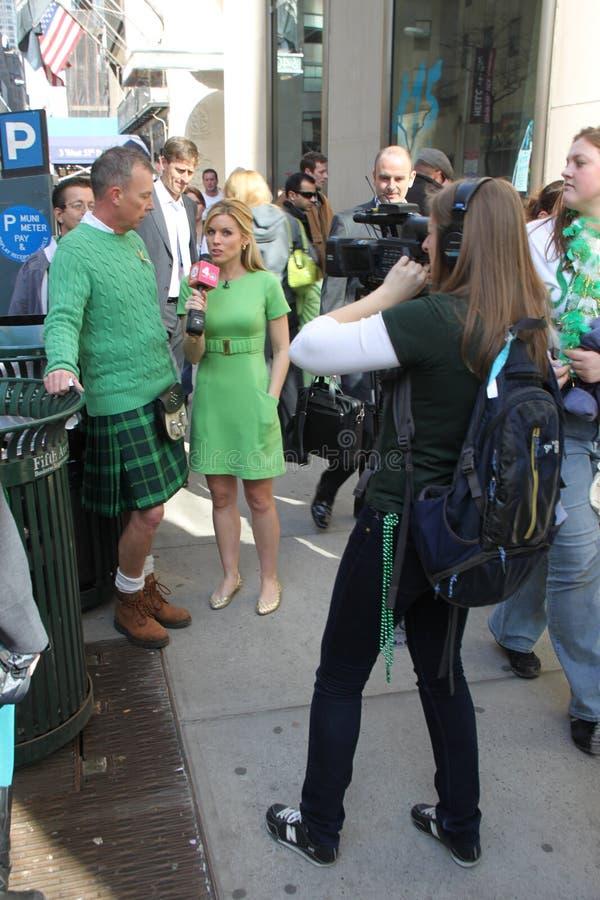 St Patrick van Manhattan parade stock afbeeldingen