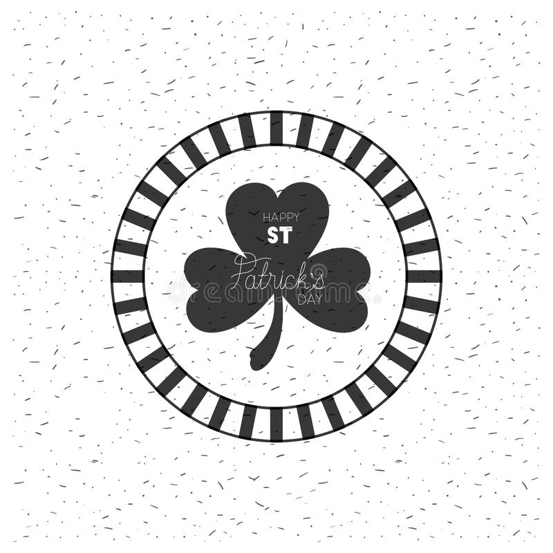 St- Patrickklee mit handgemachtem Gussstempel stock abbildung