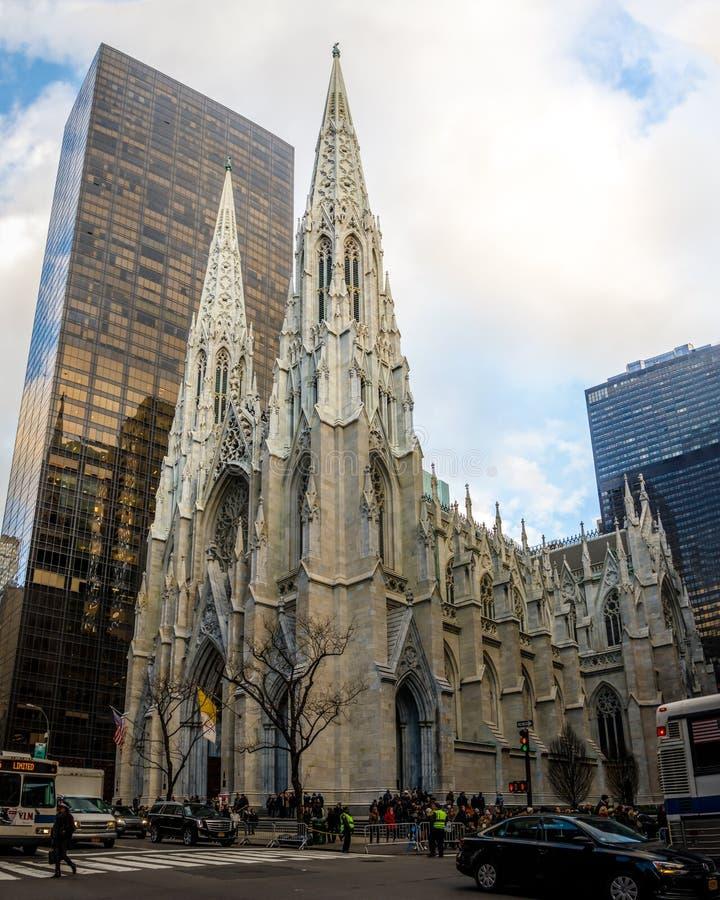 St Patricks大教堂在曼哈顿-纽约,美国 图库摄影