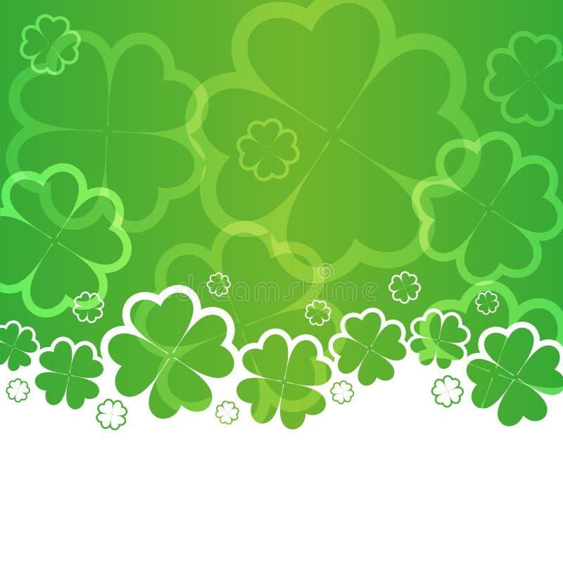 St Patricks天背景 向量例证
