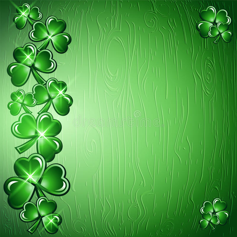 St Patricks天边界背景 库存例证