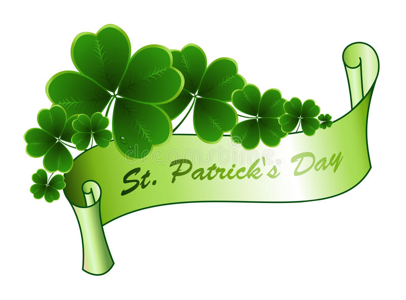 St Patricks天问候 向量例证