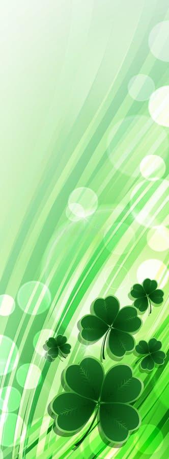 St Patricks天问候 皇族释放例证