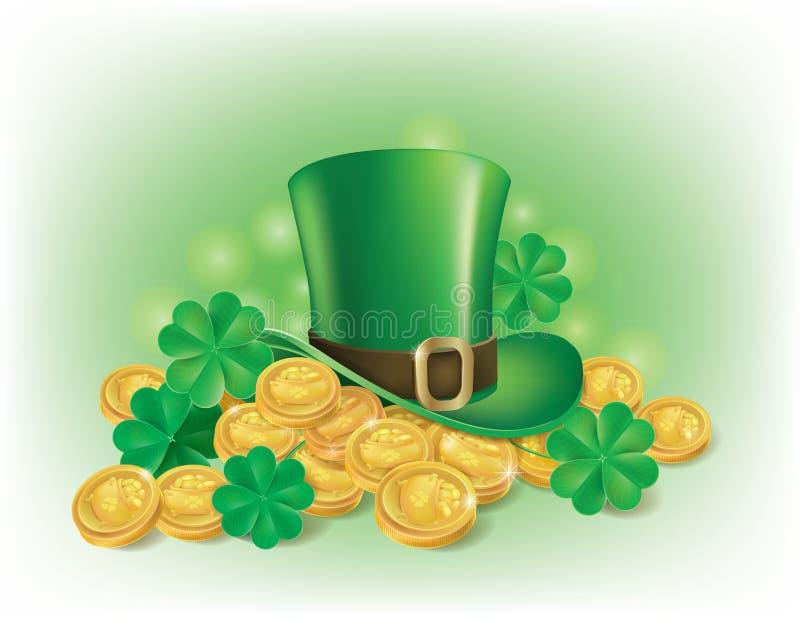 St. Patricks天symbolics 向量例证