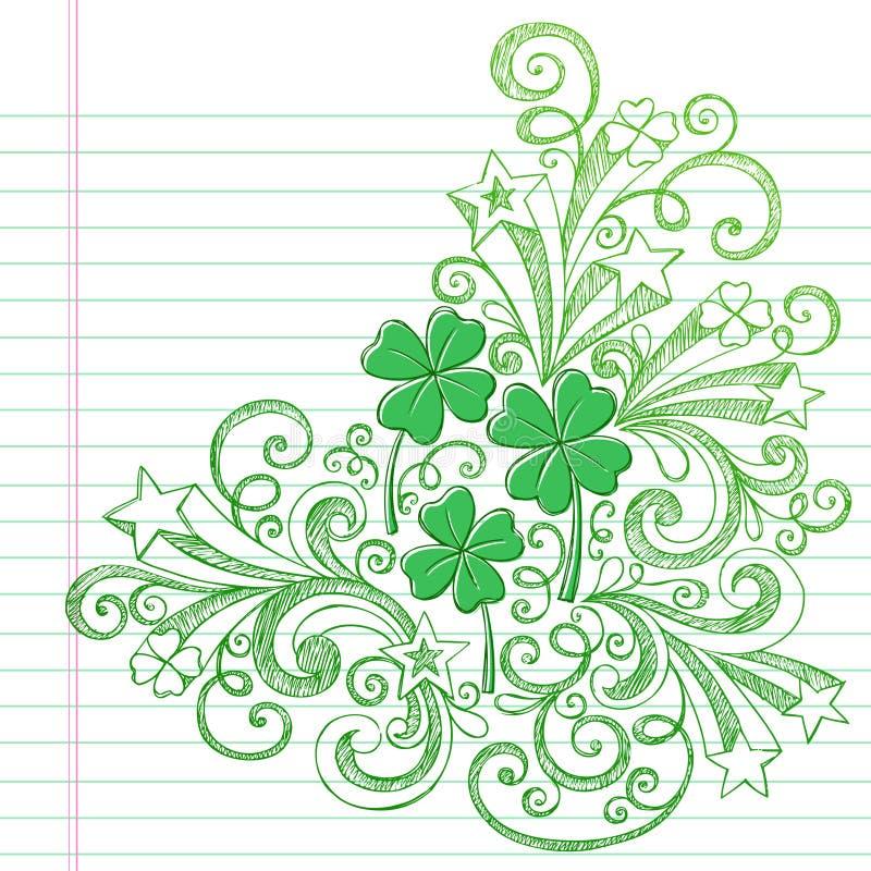 St Patricks日Colvers概略乱画向量 向量例证