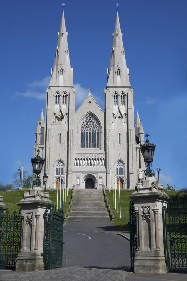 St Patricks Cathedral in Armagh. The Roman Catholic St. Patrick's Cathedral in Armagh, Northern Ireland, the seat of the Archbishop of Armagh, Primate of All stock image