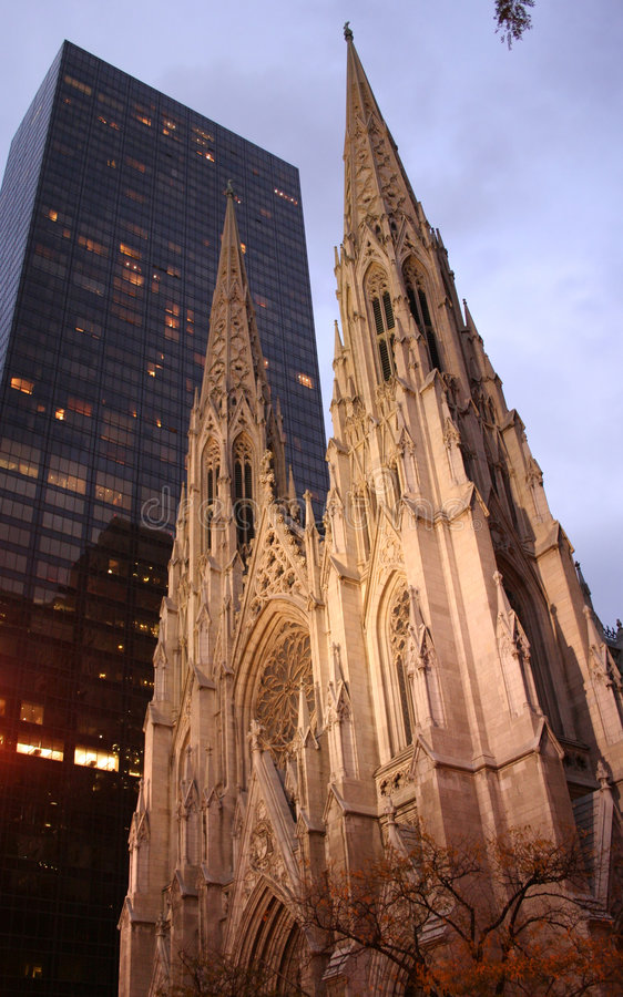St Patricks cathedral New York stock image