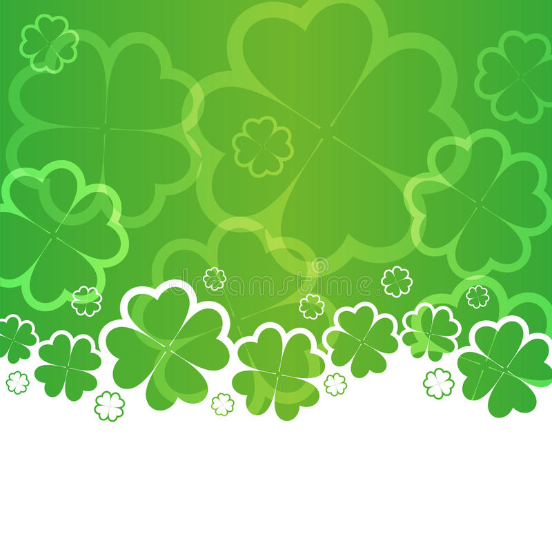 St Patricks Dagachtergrond vector illustratie