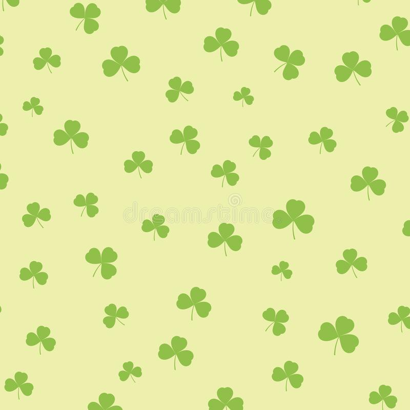 St Patricks dagachtergrond met klaverpatroon stock illustratie
