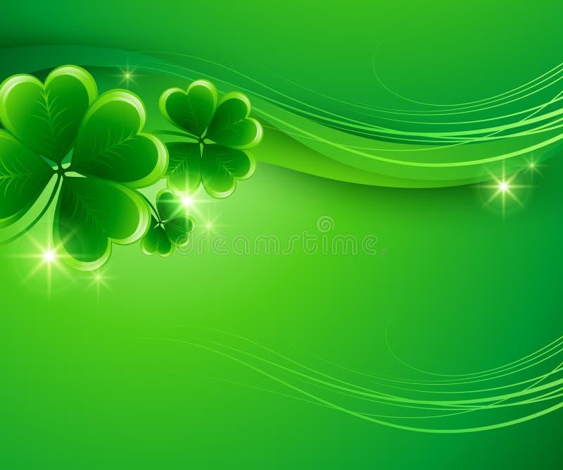 St Patricks dagachtergrond Vector illustratie stock illustratie