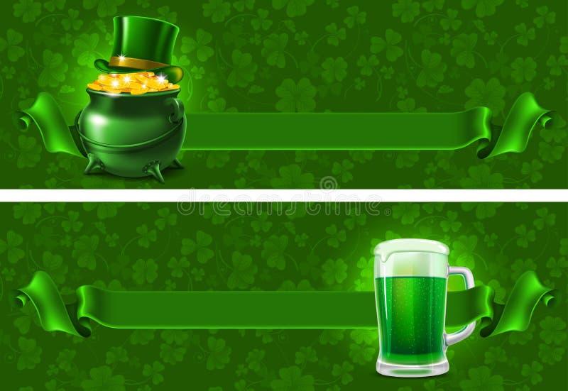 St.Patricks-dagbakgrund royaltyfri illustrationer