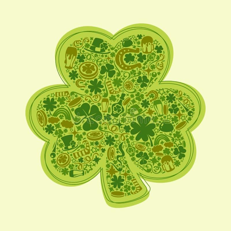 St Patricks Dagenkaart stock illustratie