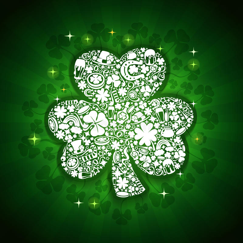 St Patricks Dagenkaart royalty-vrije illustratie