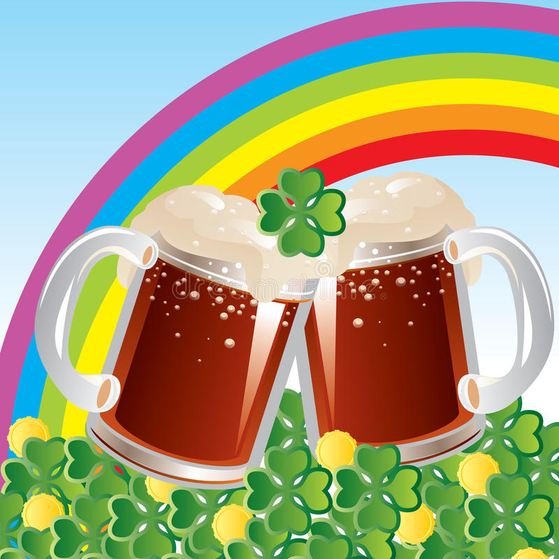 Download St. Patricks Day stock vector. Image of clover, beer - 28680130