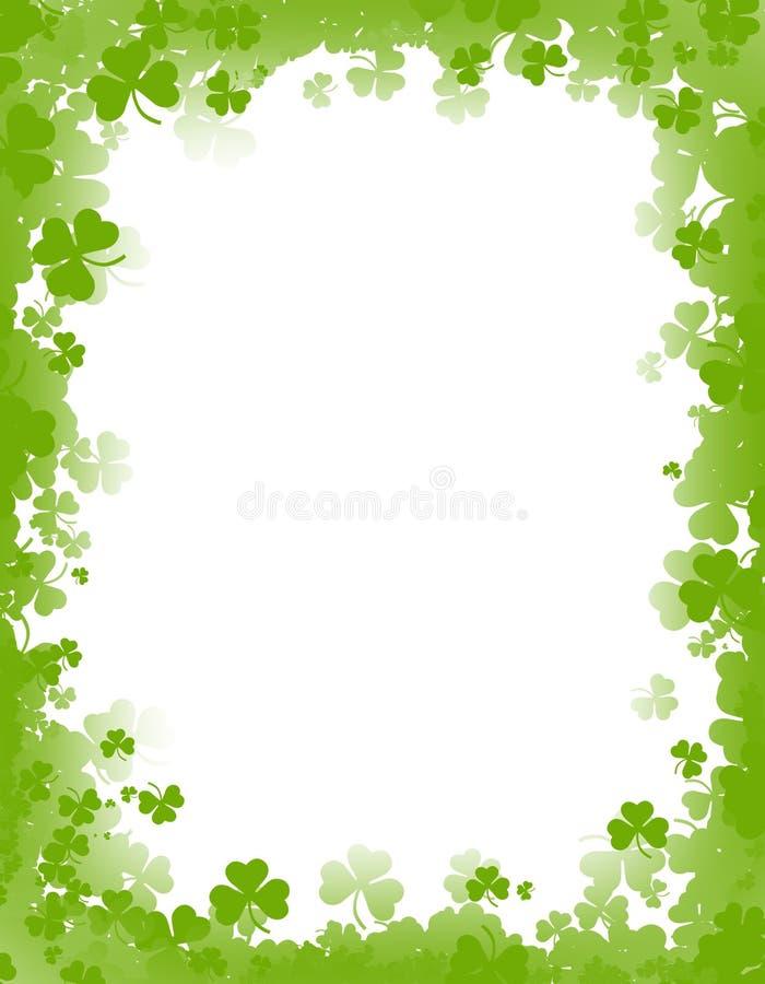 St. Patricks day background / border stock illustration