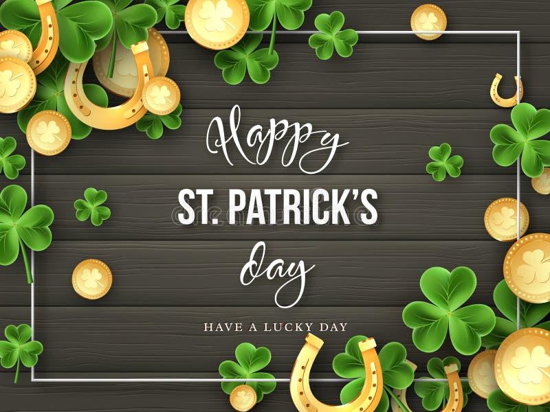 St. Patricks Day greeting holiday design vector illustration