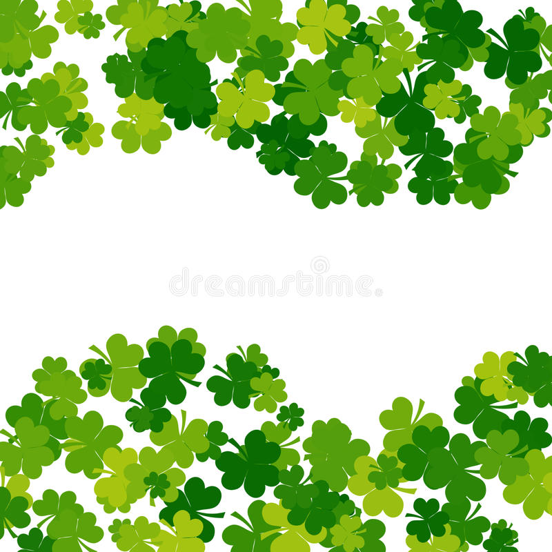 St. Patricks day background in green colors royalty free illustration