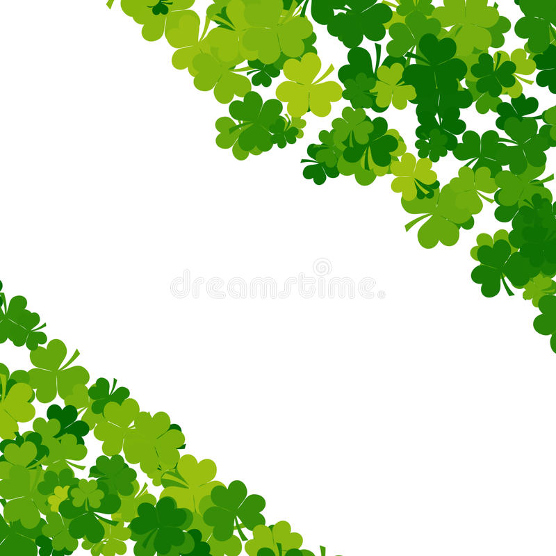 St. Patricks day background in green colors stock photo