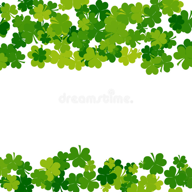 St. Patricks day background in green colors vector illustration