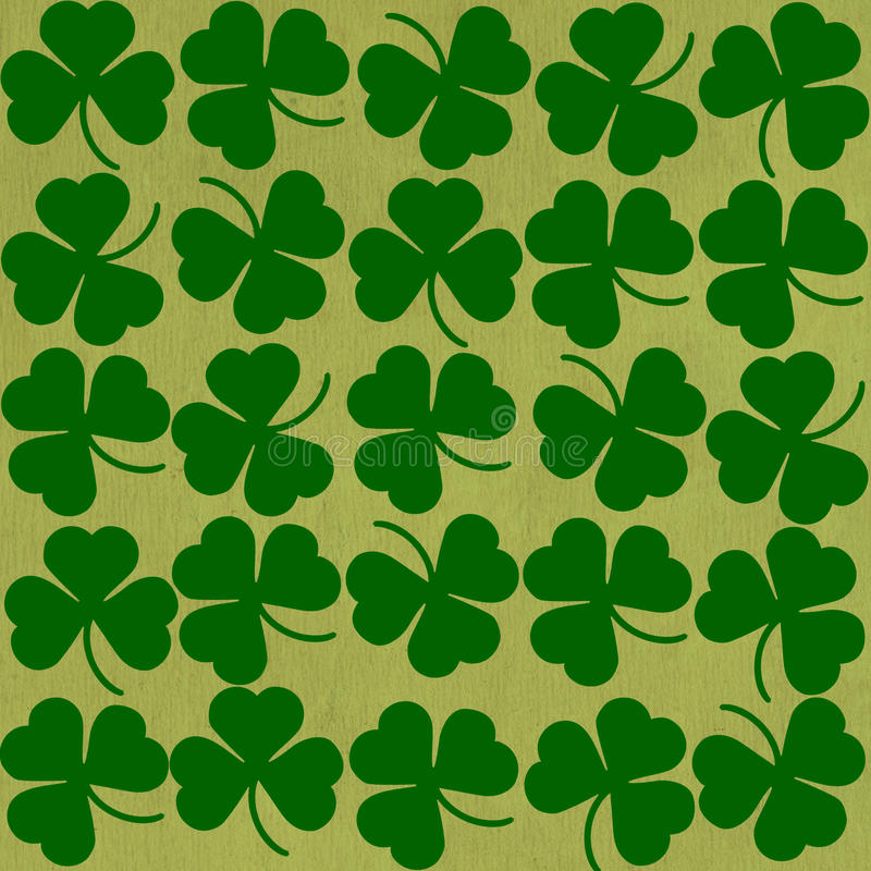 St. Patricks day background in green colors stock illustration