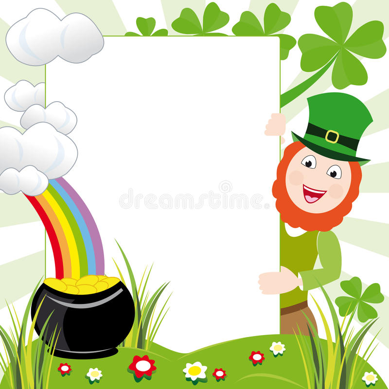 St patricks day frame stock illustration