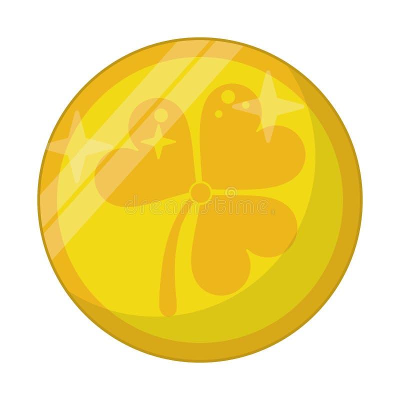 St patricks day gold coin clover. Vector illustration eps 10 royalty free illustration