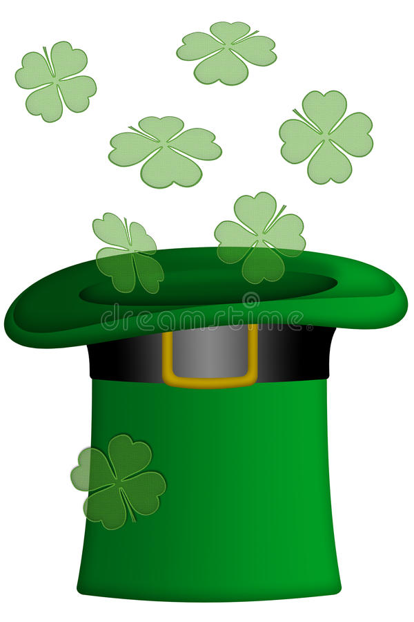 Download St Patricks Day Irish Leprechaun Hat Stock Illustration - Illustration of leaf, leprechaun: 18570153
