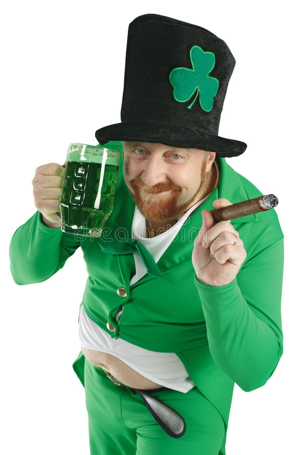 Download St. Patricks Day Leprechaun Stock Image - Image of drunk, patrick: 18537969