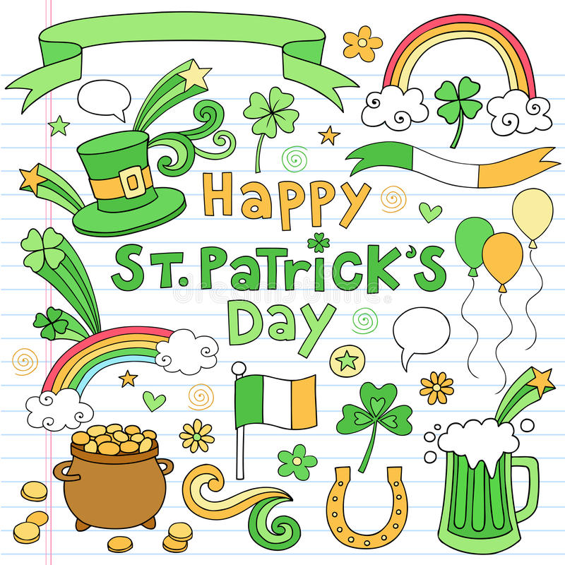 Download St Patricks Day Notebook Doodle Icon Set Vector Stock Vector - Image: 23453068