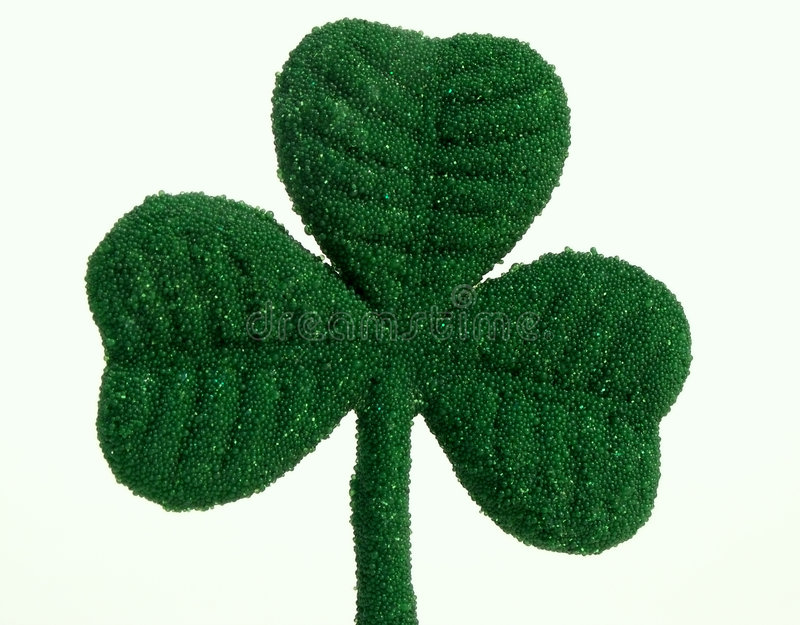 St. Patricks Day shamrock stock images