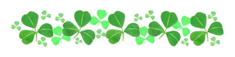 St Patricks Day shamrock border royalty free stock images