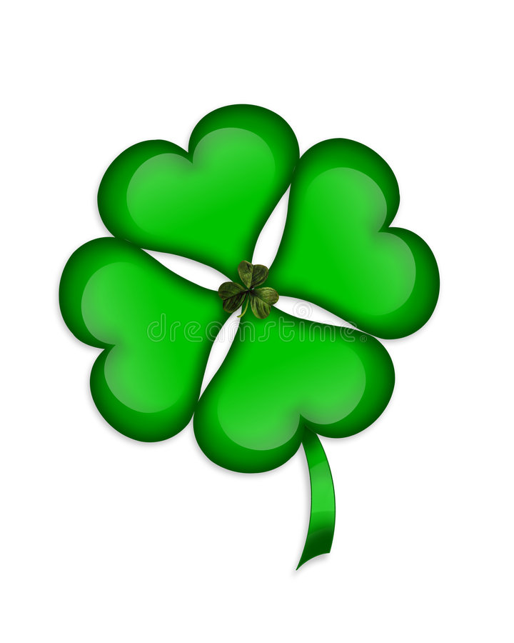 St Patricks Day Shamrock graphic royalty free stock image