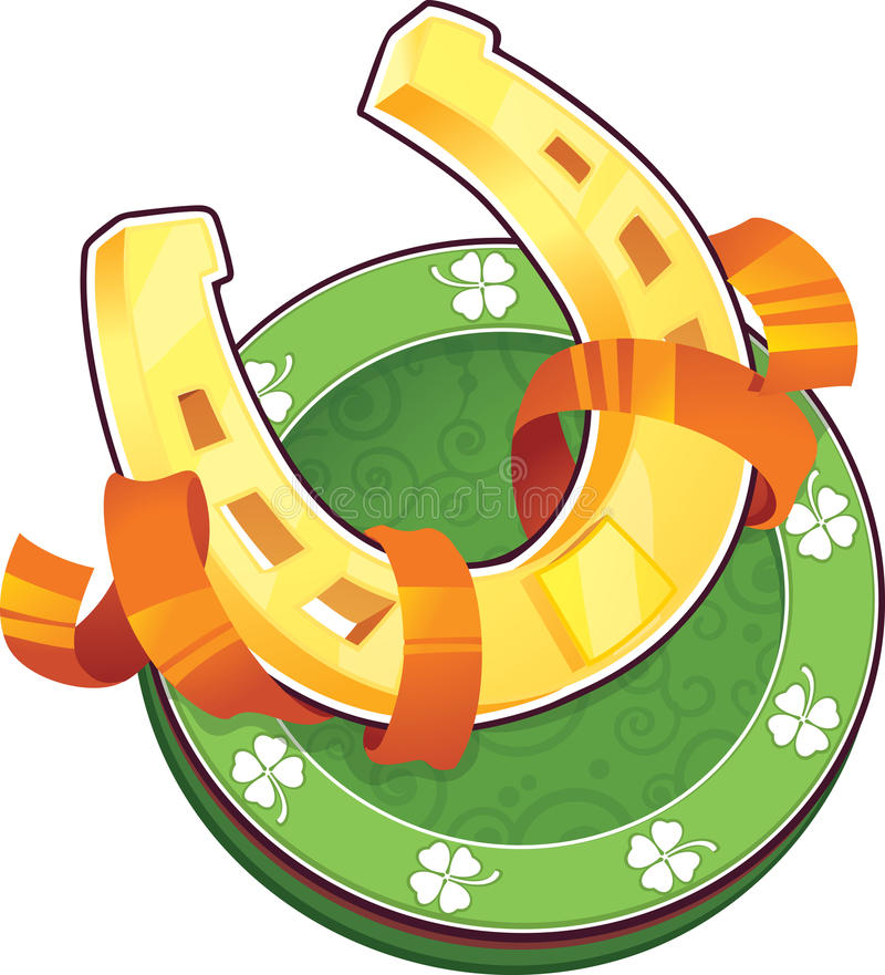 Download St.Patricks Day Symbol. The Horseshoe Stock Vector - Illustration: 29057019